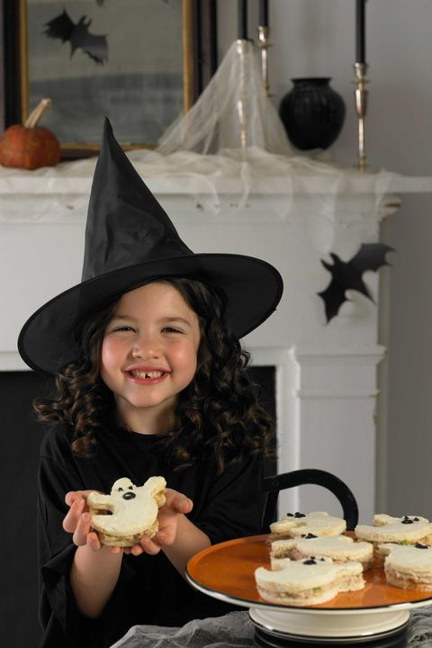 halloween appetizers ghost sandwiches