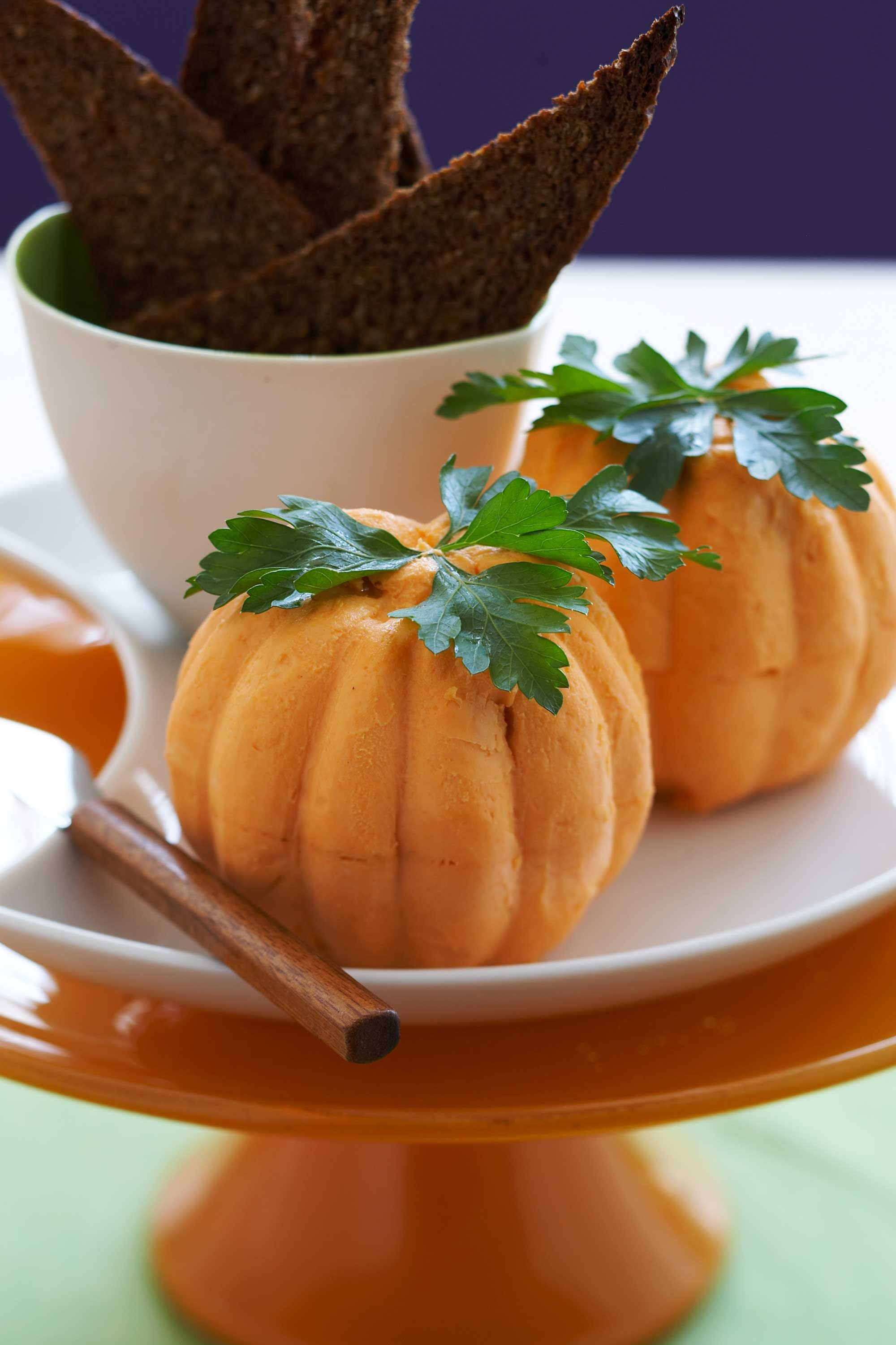 Cheese Pumpkins Halloween Dinner Idea