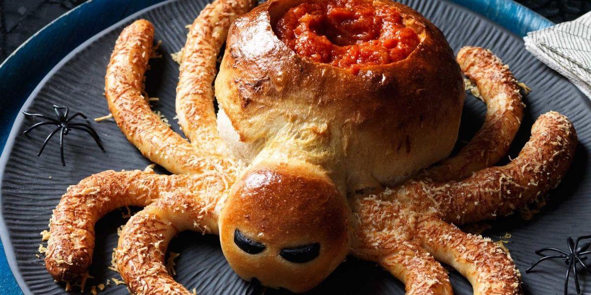 Saucy Spider With Hair Leg Sticks Recipe Halloween