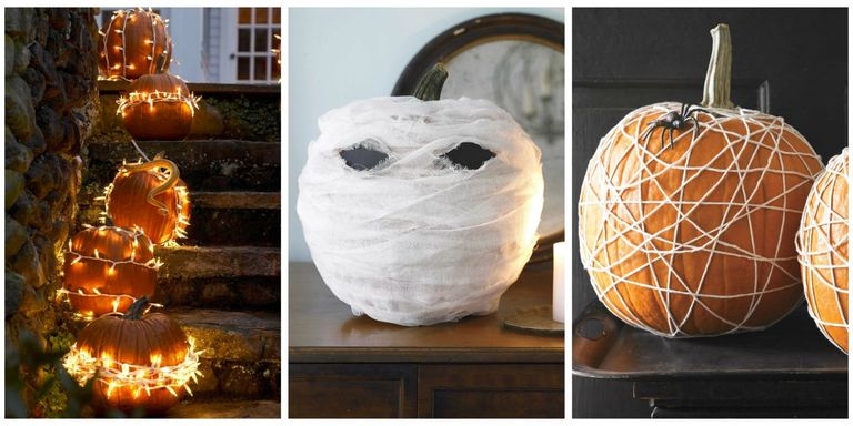 25 Best No Carve Pumpkin Decorating Ideas - Fun Designs for No Carve ...