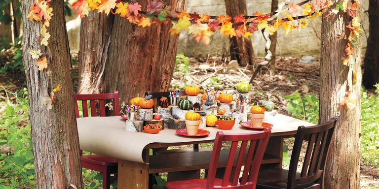 Using Cardboard Construction Paper And Things Around The House You Can Turn Your Backyard Into A Whimsical Fall Woodland Filled With Secrets