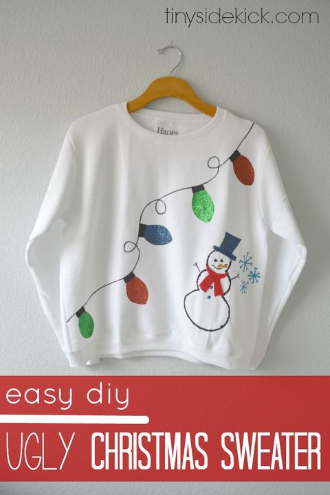 5827dcc15c8 22 Ugly Christmas Sweater Ideas to Buy and DIY - Tacky Christmas ...