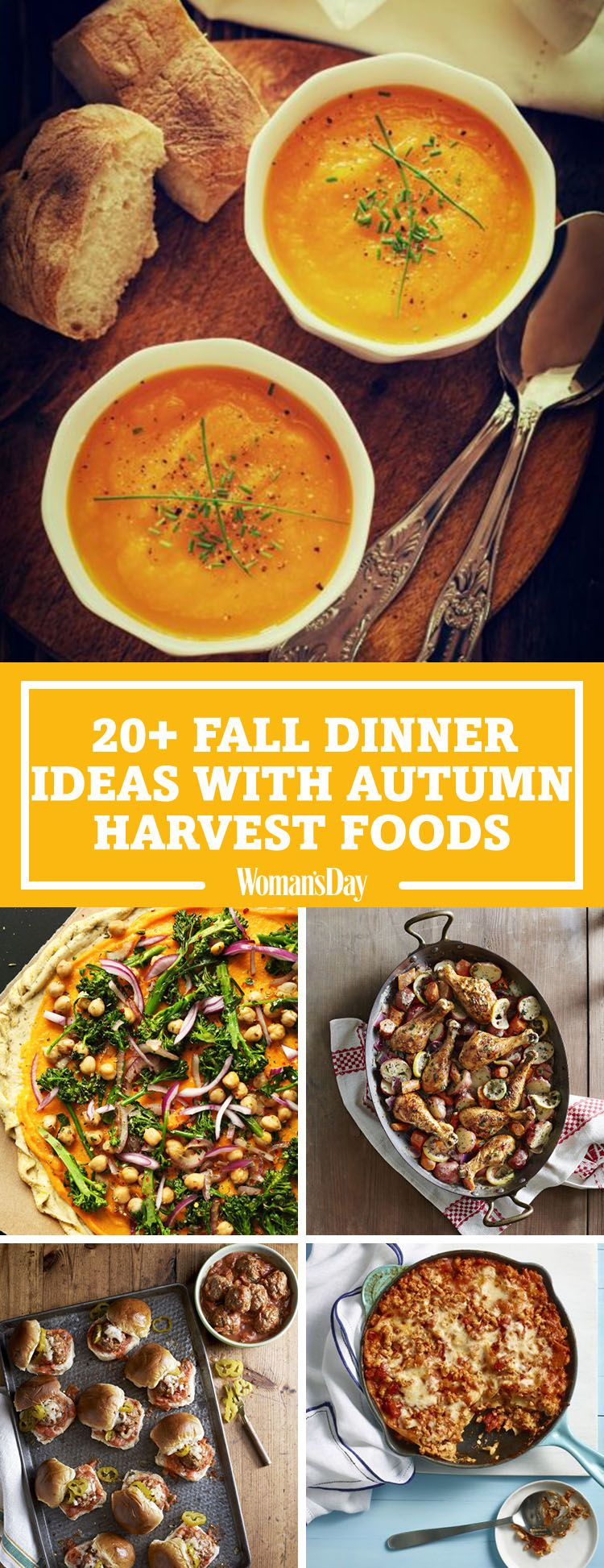 Fall Harvest Dinner Party Menu Ideas Part - 21: Womanu0027s Day