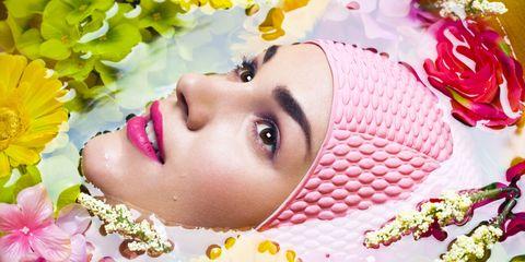 Lip, Petal, Yellow, Eyelash, Flower, Pink, Beauty, Purple, Eye liner, Photography,