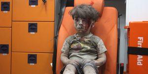 Omran Daqneesh in Aleppo, Syria
