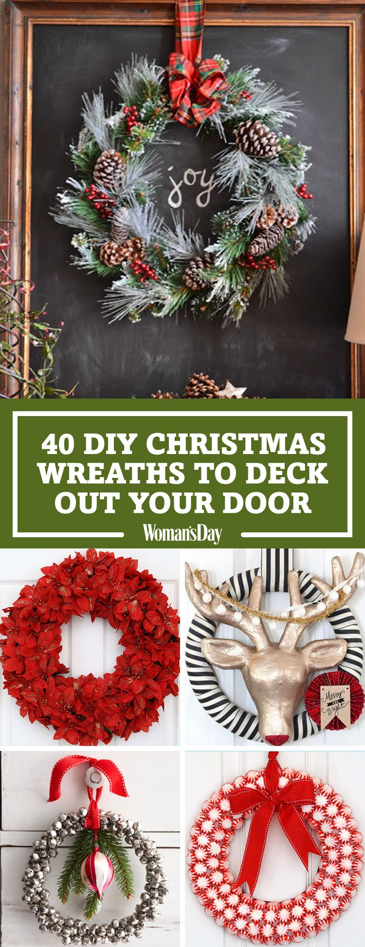 40+ DIY Christmas Wreath Ideas   How To Make A Homemade Holiday Wreath    WomansDay.com