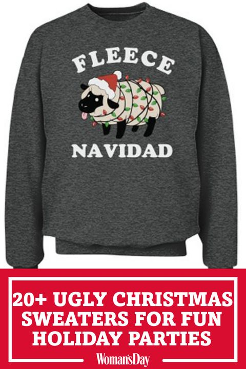 ac1cd80e6a31 22 Ugly Christmas Sweater Ideas to Buy and DIY - Tacky Christmas ...
