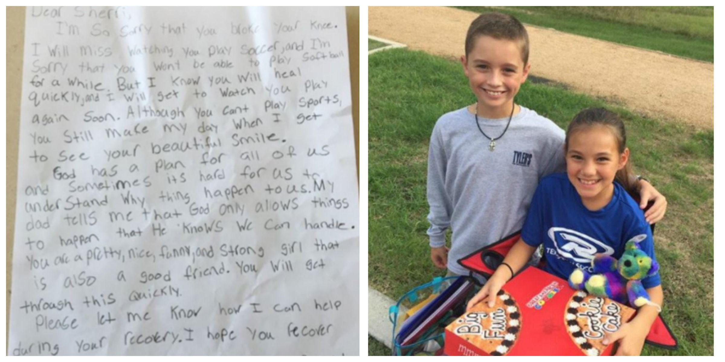 Little Boy Writes Romantic Letter Cute Letter from Kids