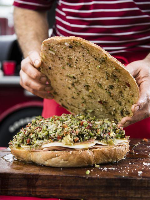 New Orleans–Style Muffulettas Recipe