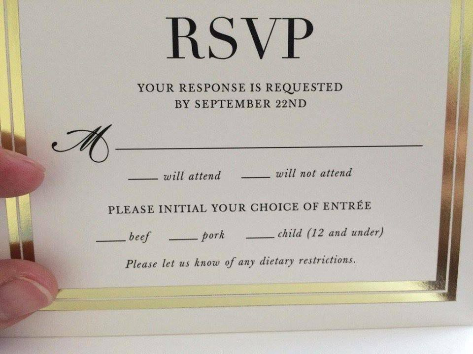 This Wedding RSVP Card is Going Viral Thanks to a Hilarious Mistake ...