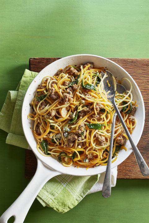 Butternut Squash Spaghetti with Sausage and Sage Recipe