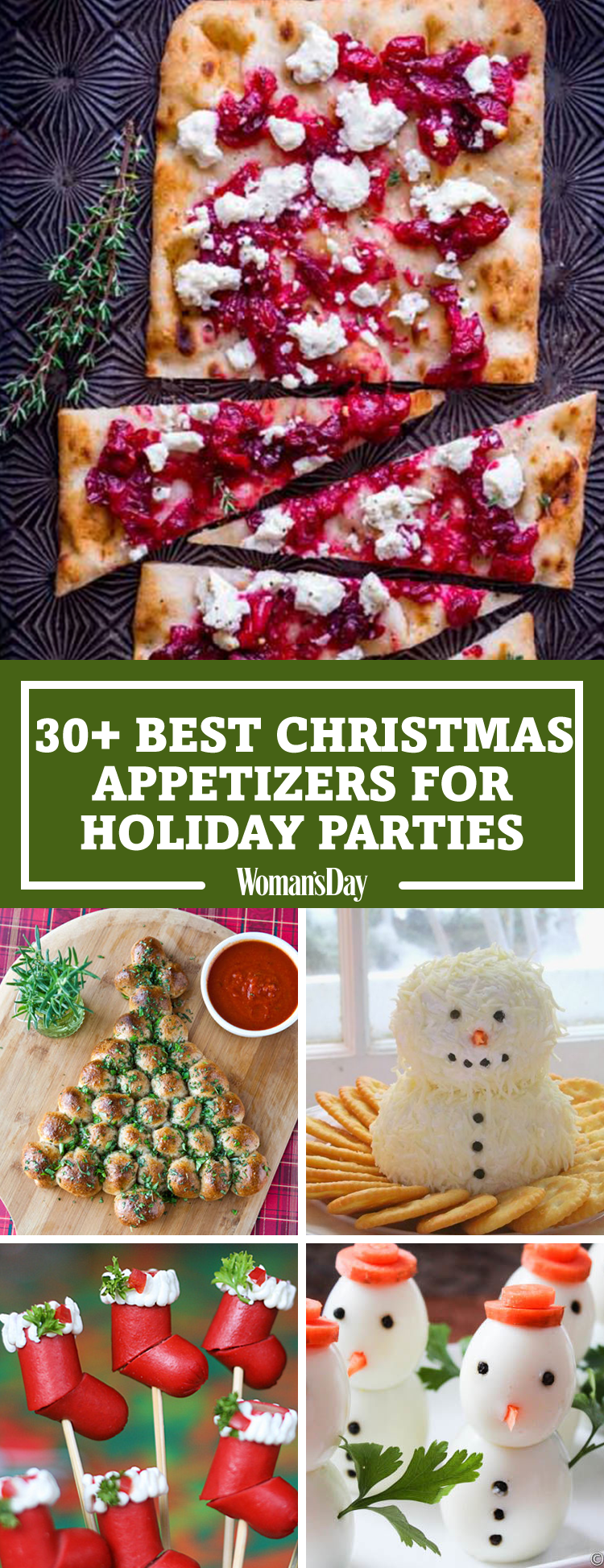 38 easy christmas party appetizers best recipes for holiday appetizers - Best Christmas Appetizers