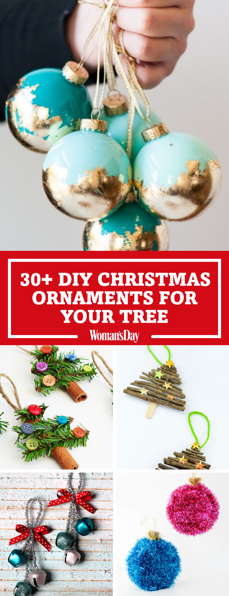 31 homemade diy christmas ornament craft ideas how to make holiday ornaments