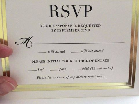this wedding rsvp card is going viral thanks to a hilarious mistake
