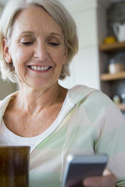 Older woman on Smartphone