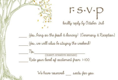 Wedding Rsvp Card Ideas Brutally Honest Wedding Invitations