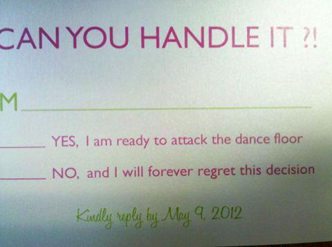 Funny Wedding Rsvp   Wedding Rsvp Card Ideas Brutally Honest Wedding Invitations