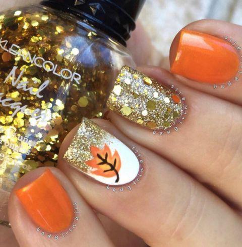 Bad Girl Nails/Instagram - Fall Nails - Nail Art For Autumn