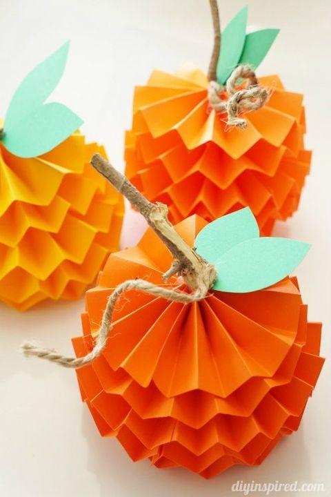 Thanksgiving Crafts Paper Pumpkins