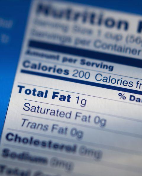 Nutrition Info Label