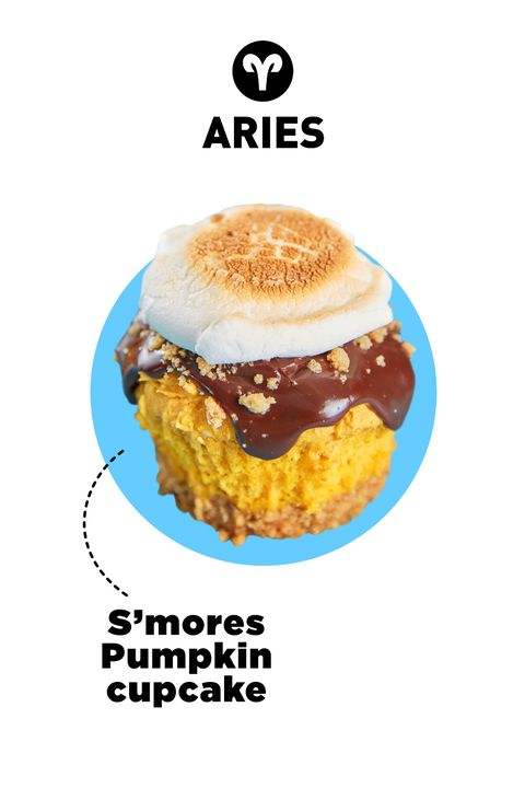 """<p>There's nothing vanilla about you, so when it comes to cupcakes, you veer toward the unexpected. You love trying new things, so this mash-up of two popular flavors is right up your alley.&nbsp;</p><p>Get the <a href=""""http://www.delish.com/cooking/recipe-ideas/recipes/a49181/smores-pumpkin-cupcakes-recipe/"""">recipe</a>.&nbsp;</p>"""