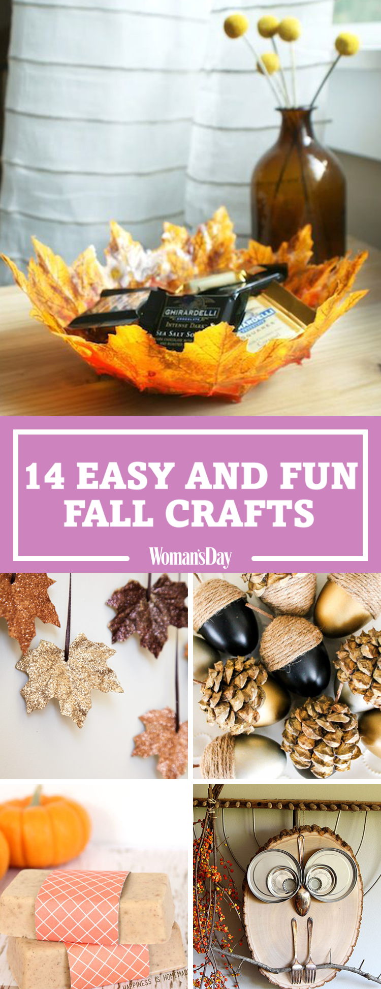 18 easy fall crafts fun ideas for autumn crafts - Fall Crafts