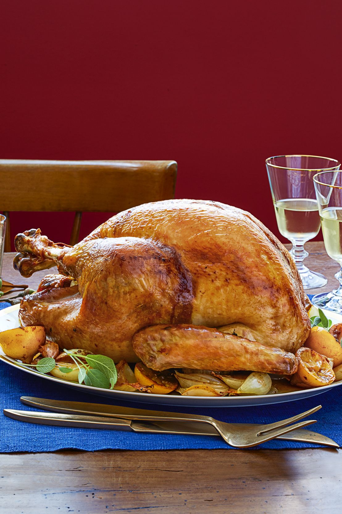 Dry-Brined Thyme-Roasted Turkey Thanksgiving Dinner
