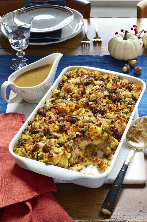 Cornbread, Sausage, and Chestnut Stuffing Thanksgiving Side Dishes
