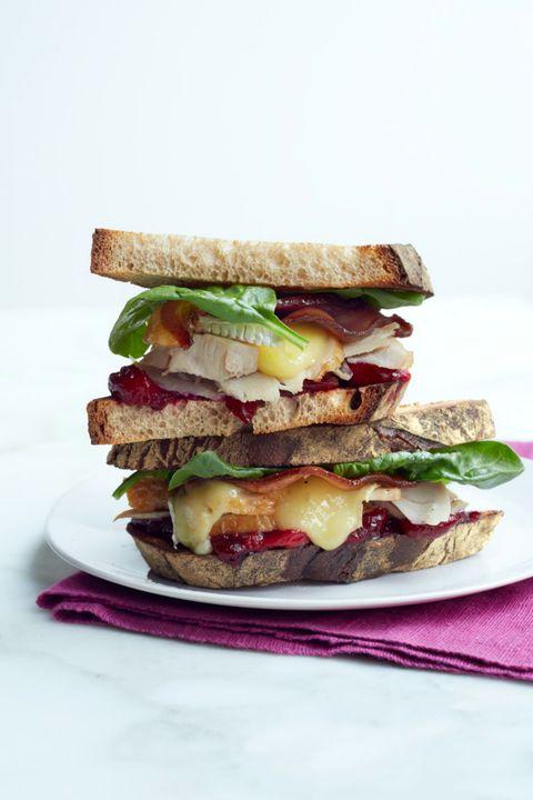 turkey sandwich Turkey, Brie, Bacon, and Cranberry Sandwich