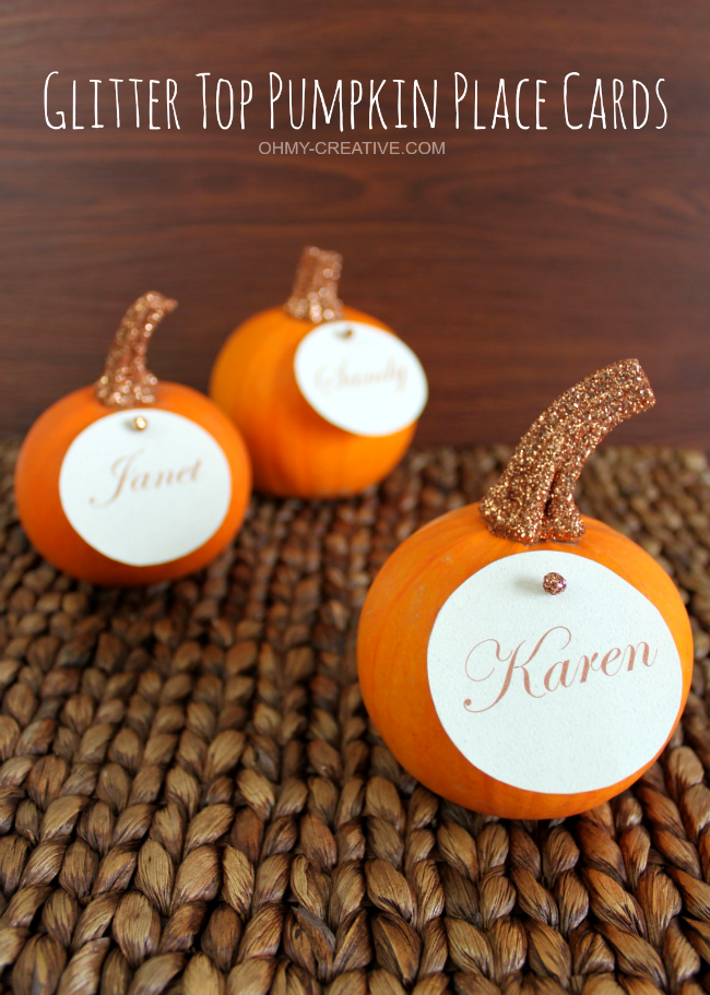10 DIY Thanksgiving Place Cards