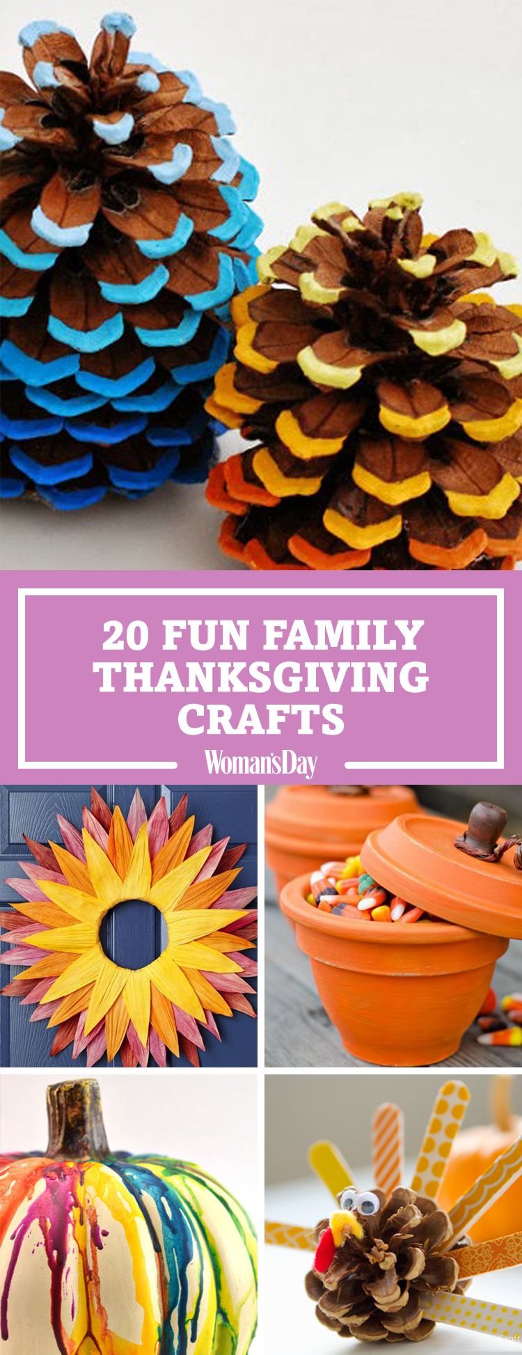 Cute Easy Thanksgiving Crafts Home Decorating Ideas