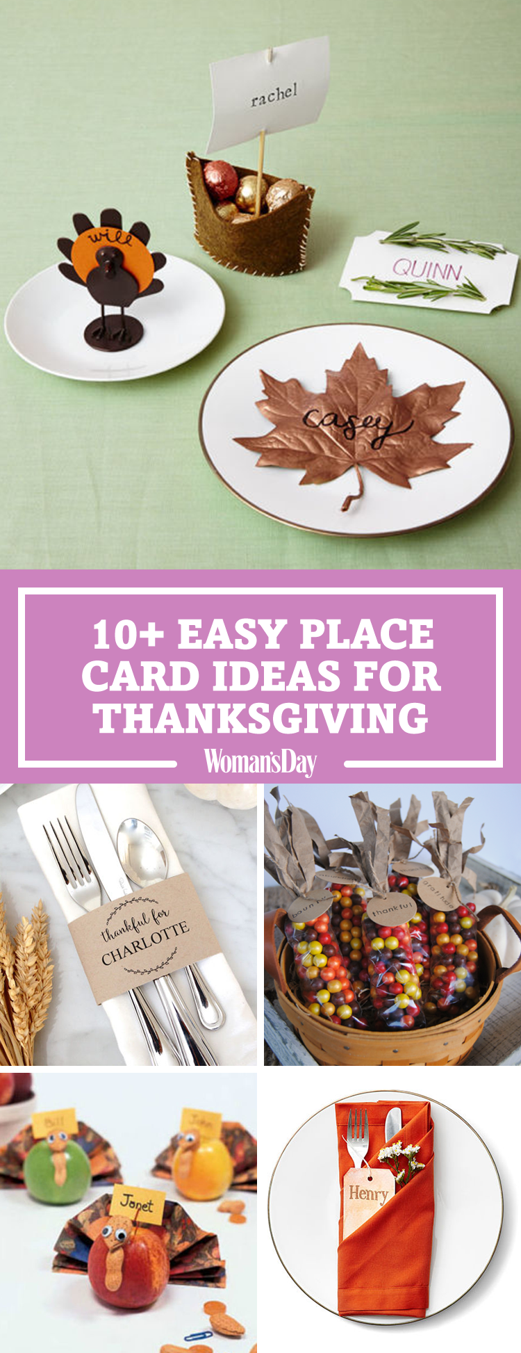 15 DIY Thanksgiving Place Cards