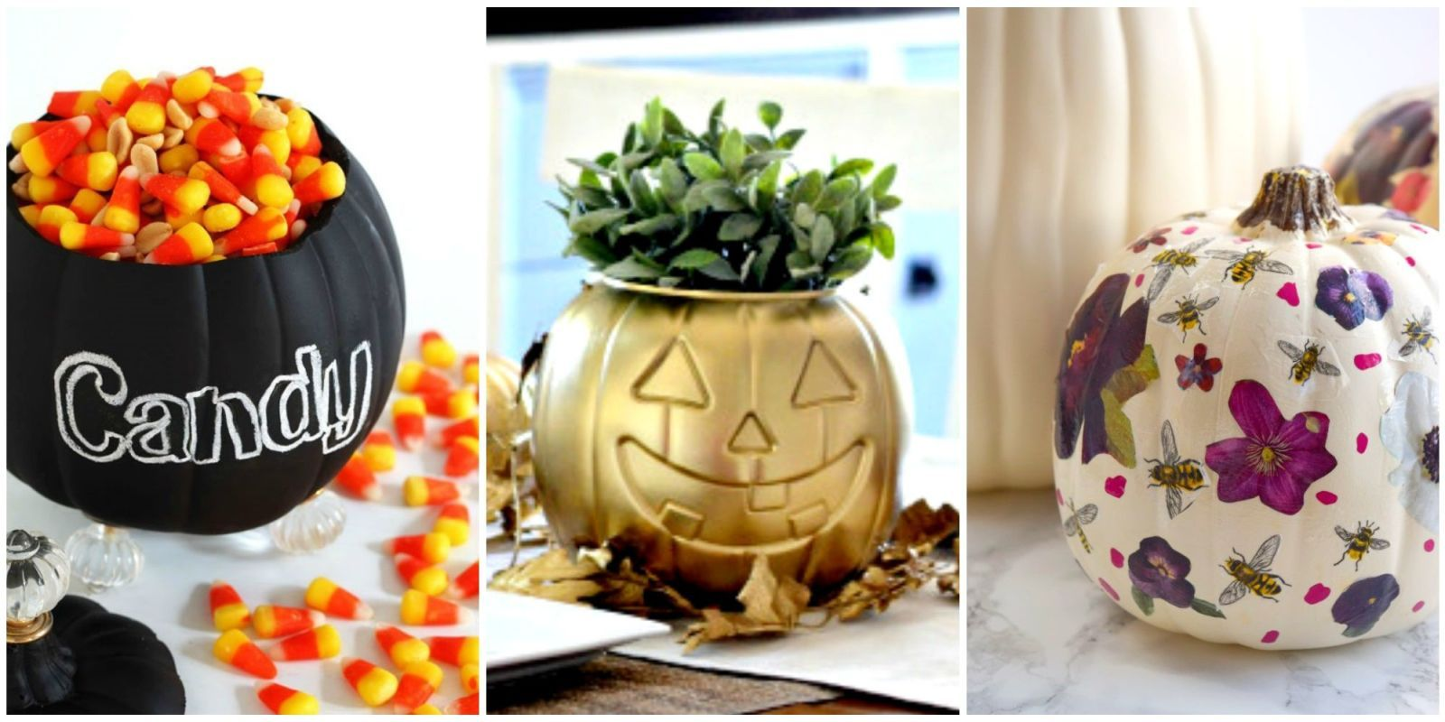 12 Brilliant Crafts To Transform Dollar Store Plastic Pumpkin Buckets Plastic Pumpkin Pails