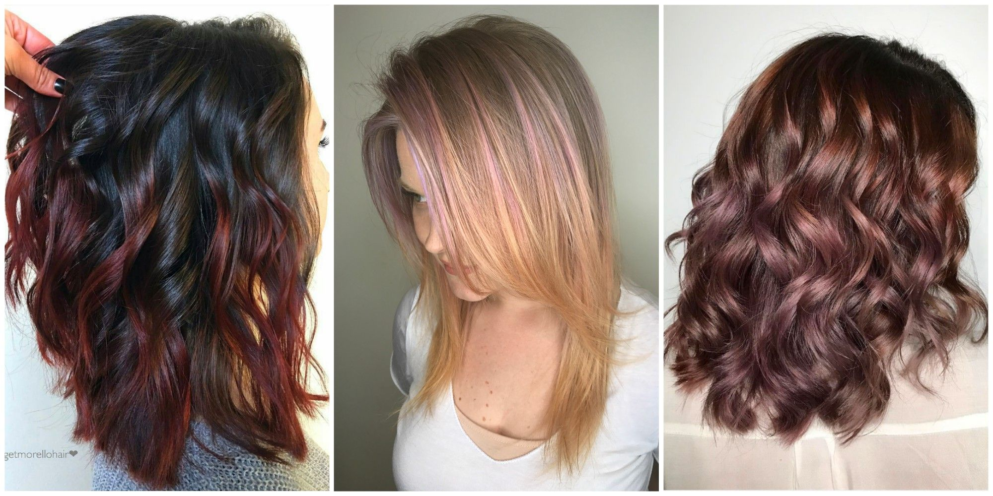 15 Subtle Hair Color Ideas 15 Ways To Add A Pretty Touch Of Color