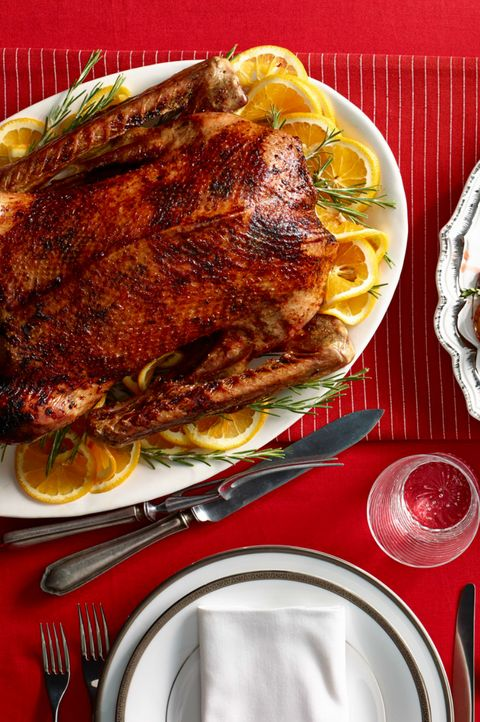 Christmas Dinner Orange Rosemary Roast Goose
