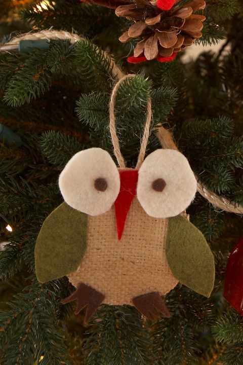 diy christmas ornaments christmas owl ornament - Christmas Decoration Craft Ideas
