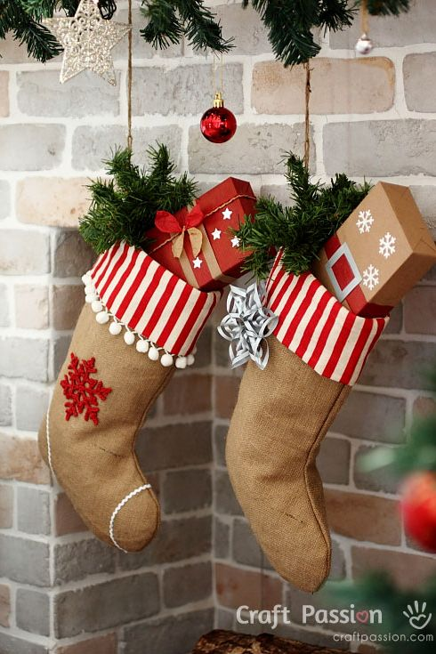 23 Diy Christmas Stockings How To Make Christmas Stockings Craft