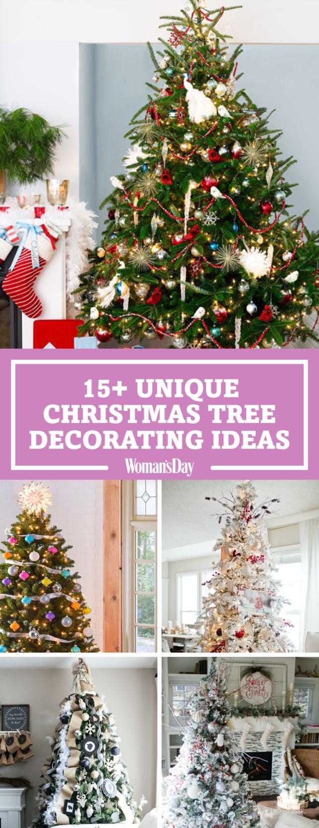 25 unique christmas tree decoration ideas pictures of for Different christmas decorations ideas