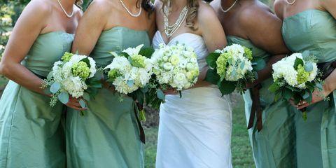Clothing, Blue, Yellow, Bouquet, Petal, Flower, Photograph, Dress, Cut flowers, Ceremony,