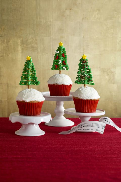 Christmas Cupcakes Rockin' Around the Christmas Tree Cupcakes