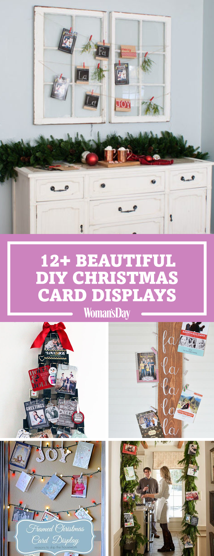 20 diy christmas card holder ideas how to display christmas cards m4hsunfo