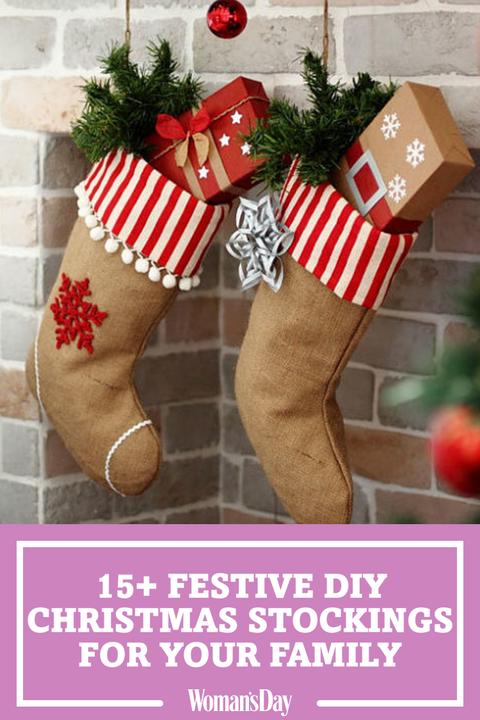 Christmas Stockings Diy.23 Diy Christmas Stockings How To Make Christmas Stockings