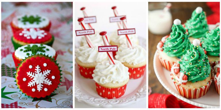 19 Cute Christmas Cupcake Ideas   Easy Recipes And Decorating Tips For  Holiday Cupcakes