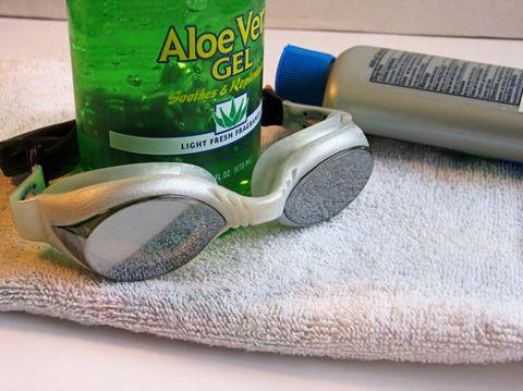 Eyewear, Vision care, Green, Goggles, Fluid, Liquid, Glass, Personal protective equipment, Drinkware, Azure,