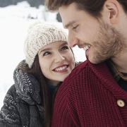 Snow, Winter, Skin, Beauty, Nose, Cheek, Playing in the snow, Fun, Smile, Love,