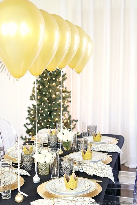 New Years Eve Table Decorations Balloon Centerpiece