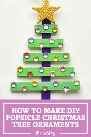 Diy Popsicle Christmas Trees Glittery Christmas Trees