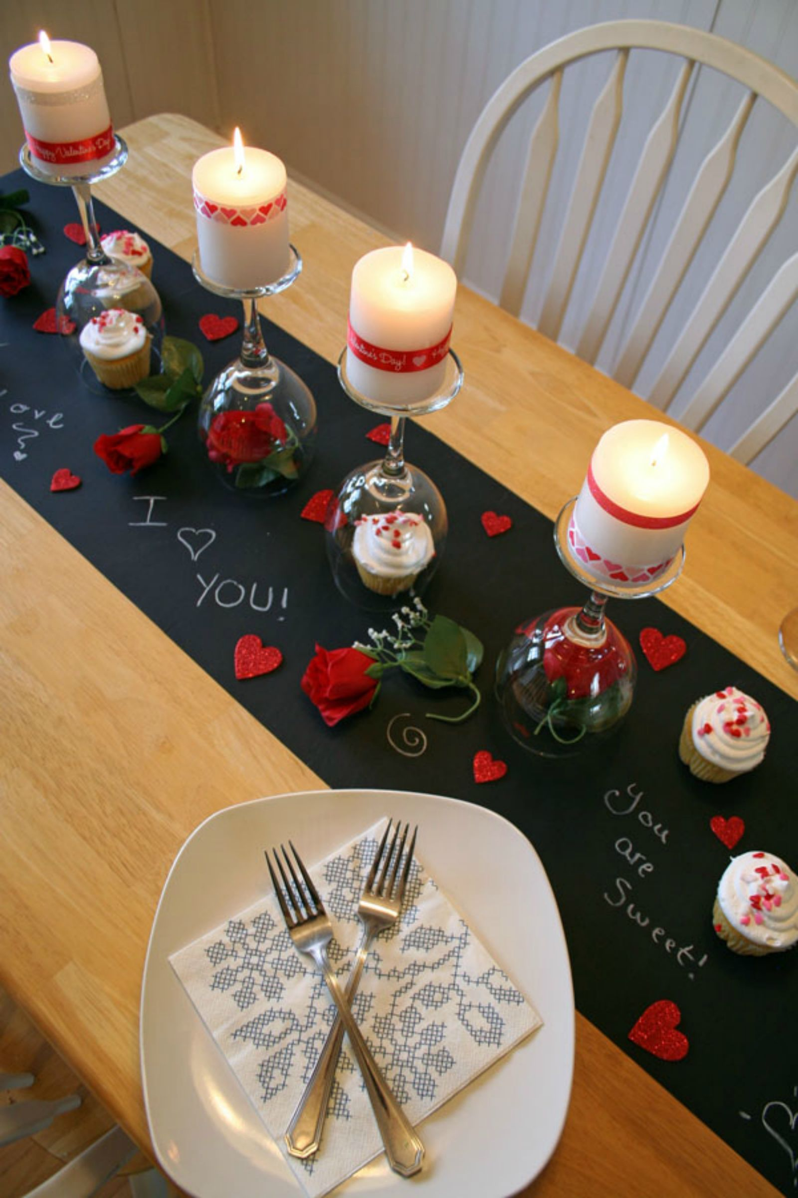Valentines Day Dinner Table Centerpieces Valentineu0027s Day Decoration Ideas - Valentineu0027s Day DIY Dinner Tablescape