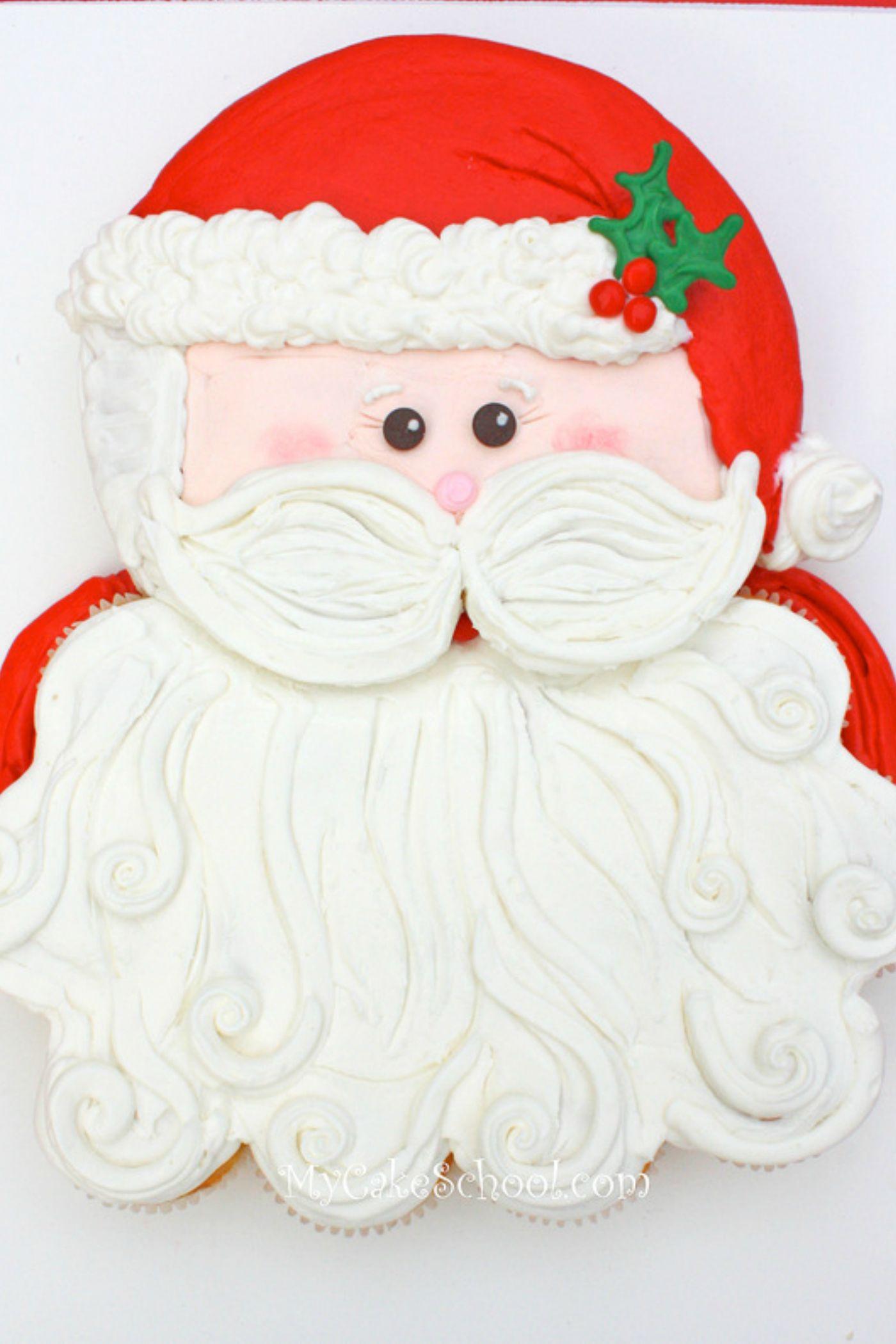Sweet Santa Claus Pull-Apart Cupcake Cake