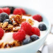 Food, Fruit, Cuisine, Produce, Ingredient, Berry, Frutti di bosco, Breakfast, Breakfast cereal, Tableware,